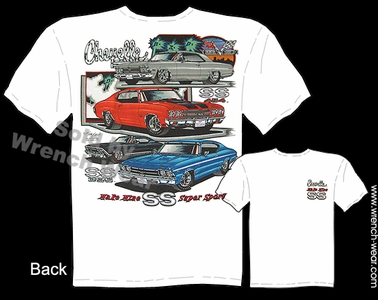 Chevelle Shirts 66 68 69 70 Muscle Car T Shirts SS 1966 1968 1969 1970 Chevy Tee