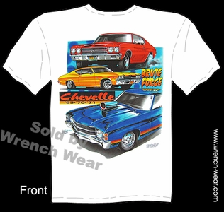 Chevelle T Shirt 69 70 71 Muscle Car Shirt 1969 1970 1971 Chevy Tee Brute Force