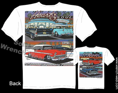 Chevrolet T Shirt 55 56 57 Classic Car Shirts 1955 1956 1957 Chevy Tee Shoebox