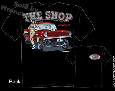 1957 Chevrolet Tee Shirts 57 Chevy Racing T Shirts Vintage Drag Racing Apparel