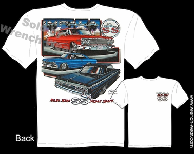 Chevy Impala T Shirts 63 64 65 SS Chevy Shirt 1963 1964 1965 Muscle Car Tee