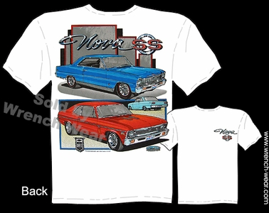 Chevy Nova T Shirts 66 67 68 69 70 71 72 Super Sport Muscle Car Clothing