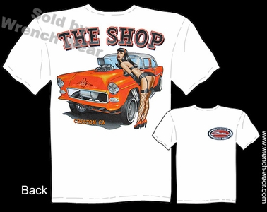 Chevy Racing Shirts 55 Chevrolet Tee 1955 Gasser T Shirts Pin Up Shirt