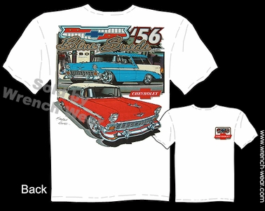 Chevy T Shirt 56 Classic Car Shirt 1956 Nomad Classic Car Tee Blue Suede