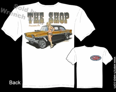 Chevy Tee Shirt 1956 Chevrolet Shirts 56 Racing Shirts Pin Up Girl T Shirt