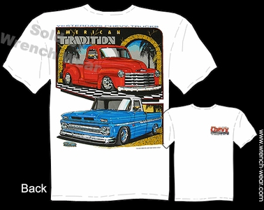 Chevy Trucks Shirt 47-53 Chevrolet Pick Up T Shirt 62-66 Classic Truck Tee
