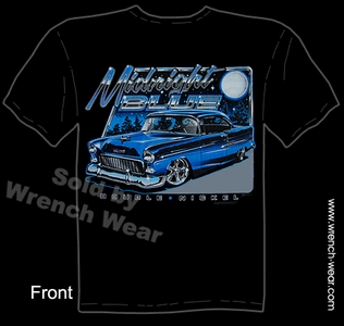 Chevy Tshirt 1955 Chevrolet Tee Shirts 55 Bel Air Classic Car Apparel