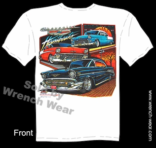 Classic Car T Shirt 55 56 57 Chevy Shirt 1955 1956 1957 Chevrolet Tee Heartbeats
