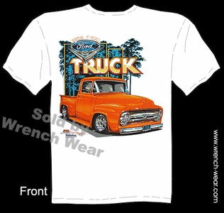 Classic Truck T Shirt 56 Pick Up Clothing 1956 F-100 Ford Tee Shirts