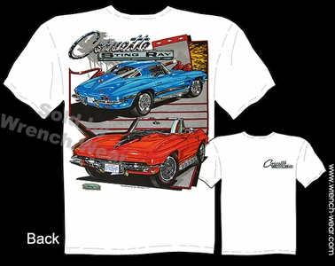 Corvette Apparel 63-67 Stingray T Shirts 1963-1967 Chevy Tee Convertible Shirt