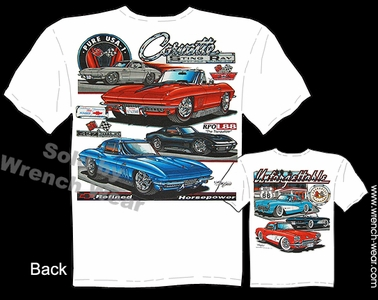 Corvette Shirt 63 64 65 66 67 68 Stingray T Shirt 56 57 58 Chevrolet Tee Shirts