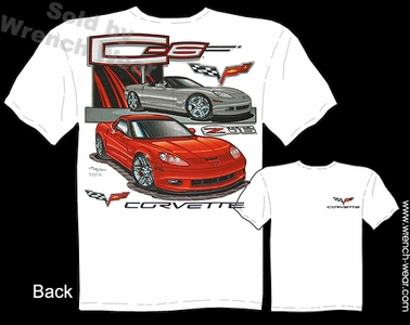 Corvette Shirts C6 Z06 Chevrolet Tee Performance T Shirts