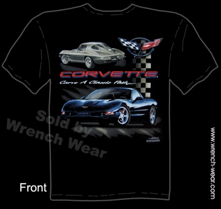 Corvette T Shirt 63 Stingray Tee C5 Apparel Carve A Classic Path