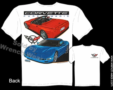 Corvette T Shirts 97-04 C5 Apparel 1997-2004 Convertible Shirt Pure Magic