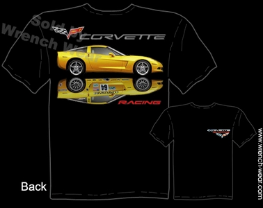 Corvette Tshirts C6 Racing Shirts Chevrolet Apparel Automotive Tee