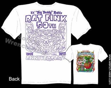 Ed Big Daddy Roth Rat Fink 2012 Reunion Tee 50th Anniversary T Shirt