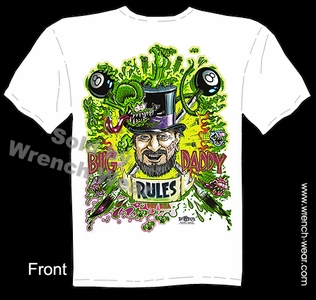 Ed Big Daddy Roth T Shirts Big Daddy Rules Rat Fink Tshirt Tribute