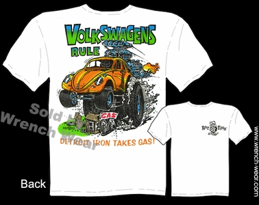 Ed Roth T Shirt Volkswagens Rule Big Daddy Clothing Bug Beetle Rat Fink Tees