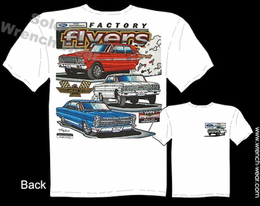 Ford Racing Shirt Muscle Car Tshirts Vintage Drag Racing Tee Factory Flyers
