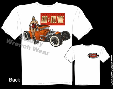 1930 1931 Hot Rod Tees Ford T Shirts 30 31 Coupe Rod & Kulture Pin Up Shirt
