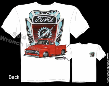 Ford Truck T Shirts 54 55 56 F-100 Pickup Clothing 1954 1955 1956 Truck Apparel