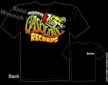 Gasoline Records Clothing Hot Rod T Shirt Garage Apparel