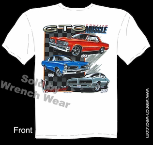 GTO Apparel 1964 1966 1969 Pontiac Shirts 64 66 69 Vintage Muscle Car T Shirts