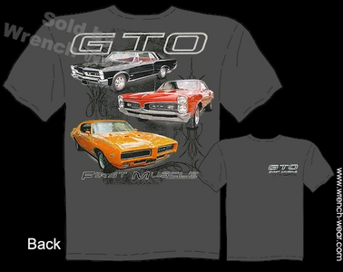 GTO T Shirt 65 67 69 Pontiac Shirts 1965 1967 1969 Muscle Car Tee