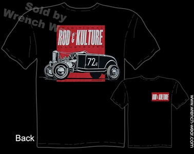 Hot Rod Shirt 1932 Ford T Shirt Rod & Kulture Bonneville 32 Roadster Tee