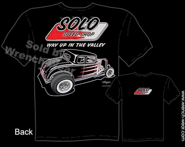 Hot Rod Tee 1932 Vintage Ford T Shirts 32 Ford Coupe Solo Speed Shop Apparel