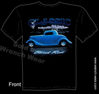 Hot Rod Tshirt 1933 1934 Ford Tee Classic Street Rod Shirts 33 34 Coupe Tee