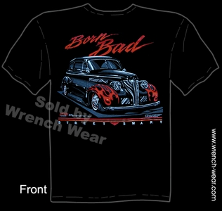 Hot Rod Wear 1939 Chevrolet T Shirt 39 Chevy Tee Vintage Car Shirt Born Bad