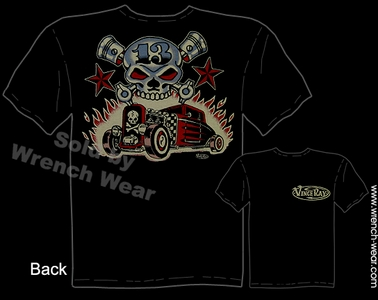 Hot Rods Shirts 30 31 Rat Rod Tee 1930 1931 Skull & Pistons Tattoo T Shirt