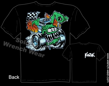 Hot Rods Shirts Kustom Kulture Apparel Butt Racer Gearhead Tee