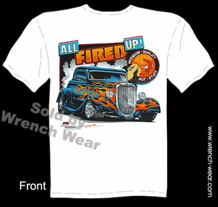 Hot Rods T Shirt 33 34 Ford Tee Shirts 1933 1934 Street Rod Shirt All Fired Up