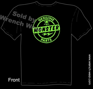 Hot Rod Clothing Kustom Kulture Tee Genuine Monster Parts Tattoo Tshirts