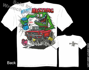 Mighty Mustang Shirt 64 65 66 Rat Fink T Shirt Ed Roth Tee Big Daddy Clothing