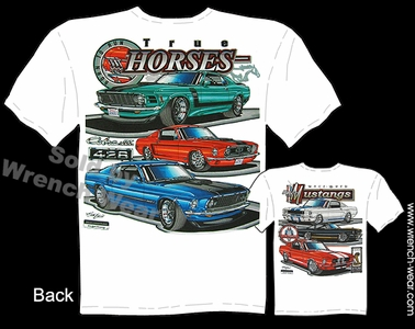 Mustang GT Shirts 65 66 67 68 69 70 Ford T Shirts Muscle Car Tee GT350 GT500