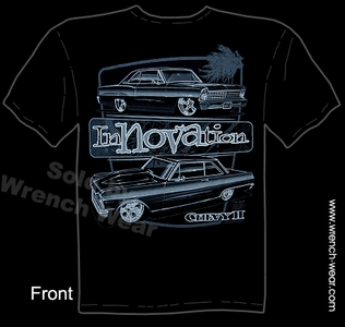 Nova Shirt 62 63 64 65 66 67 Muscle Car Tshirt Chevy II Tee Innovation