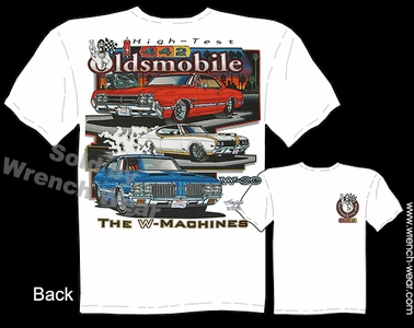 Oldsmobile T Shirt 68 69 70 71 72 Muscle Cars Shirts 66 67 Cutlass 442 W-30 Tee