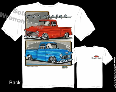 Pick Up Clothing 55 56 57 Chevy Truck T Shirt 1955 1956 1957 Chevrolet Shirts
