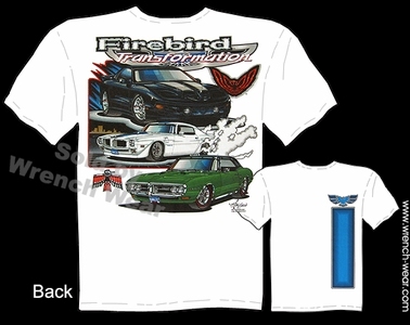 Pontiac Firebird T Shirts 1967 1968 Muscle Car Shirts 67 68 Automotive Tee