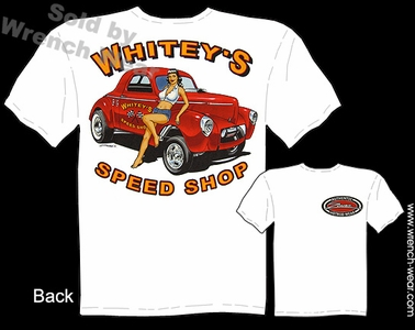 Racing T Shirts 1941 Willys Gasser Shirt Speed Shop 41 Hot Rod Pinup Tee