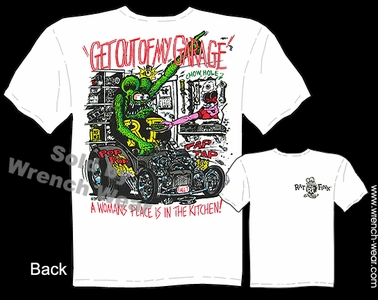Rat Fink Apparel Ed Big Daddy Roth T Shirt Get Out Of My Garage Hot Rod