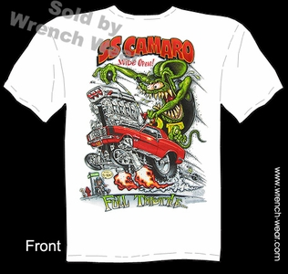 Rat Fink Clothing Full Throttle SS 1969 Camaro Ed Roth T Shirts Big Daddy T