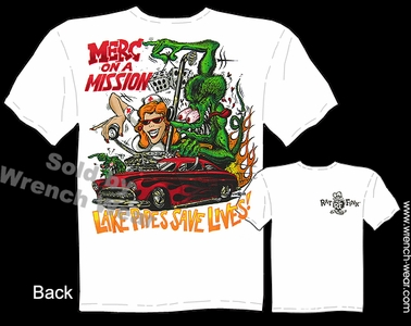 Rat Fink Shirt Big Daddy Tee 49 50 51 Mercury Merc On A Mission Ed Roth Clothing