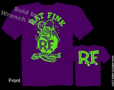 Rat Fink Shirt Purple & Green Big Daddy T Shirts Ed Roth Clothing