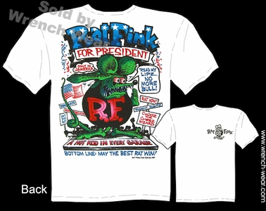 Rat Fink Shirt RatFink For President Ed Roth Clothing Big Daddy T Shirts