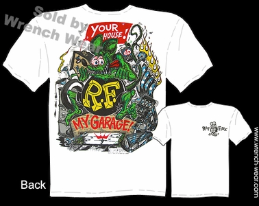 Rat Fink Shirt Big Daddy Roth T Shirts Your House, My Garage Ed Roth Tee