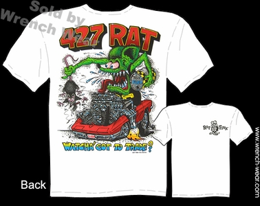 Rat Fink Shirts 427 Corvette Clothes Ed Big Daddy Roth T Shirts 1967